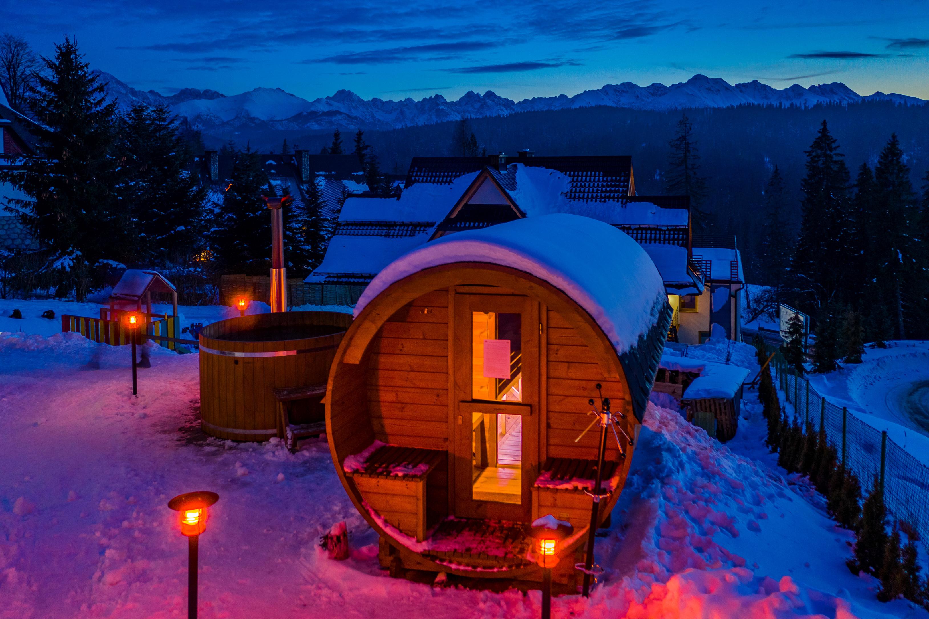 Apartamenty Bukowina Tatrza艅ska sauna ogrodowa